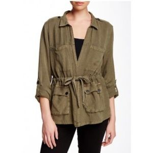 Olive Linen Lightweight Jacket by Sanctuary